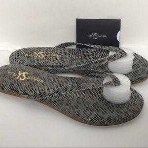 NEW Yosi Samra Rivington Slate Flip Flop Sandals 7